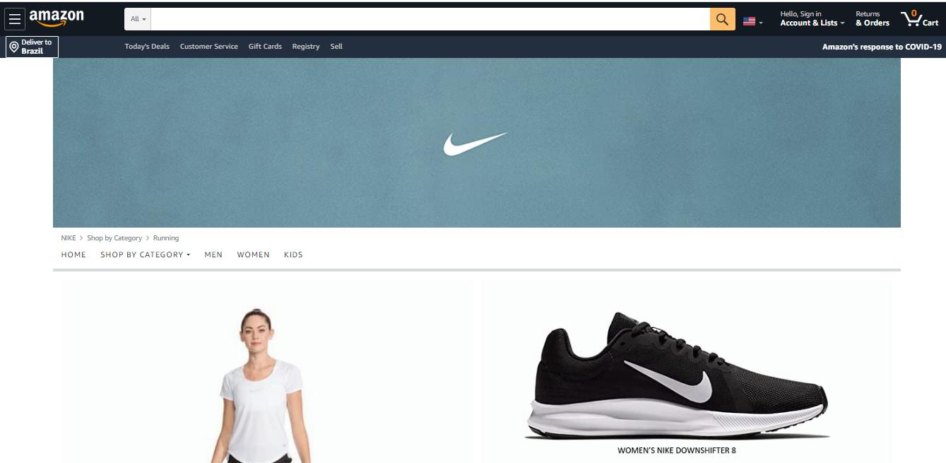 Nike entrou no modelo D2C